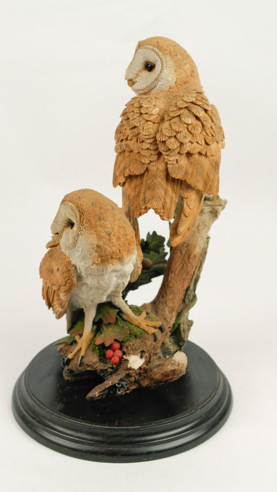 VINTAGE COUNTRY ARTISTS HAND CRAFTED FIGURINE BARN OWL