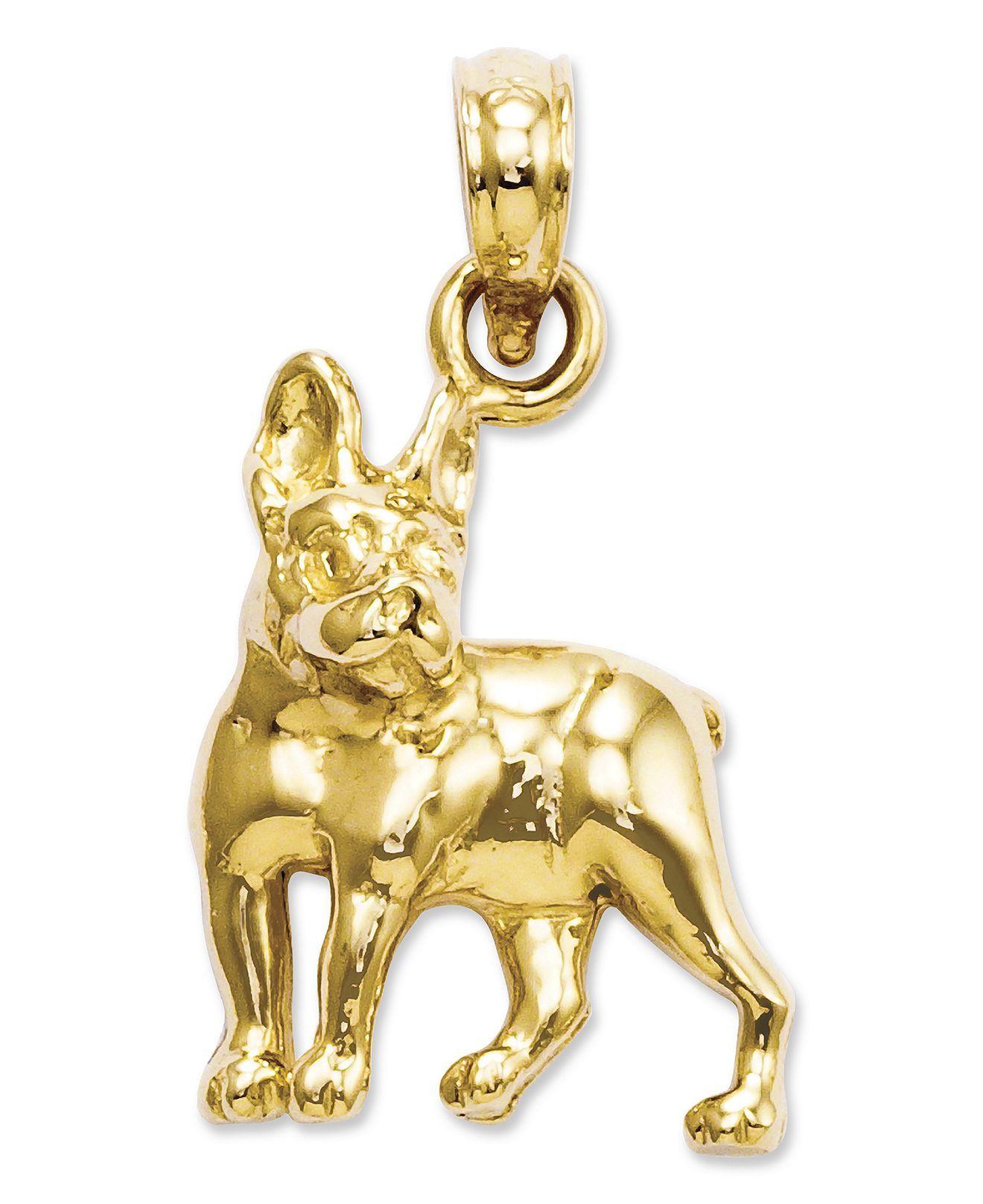 Love my Bostons!! 14k Gold Charm, Boston Terrier Dog Charm - Bracelets - Jewelry & Watches - Macy's