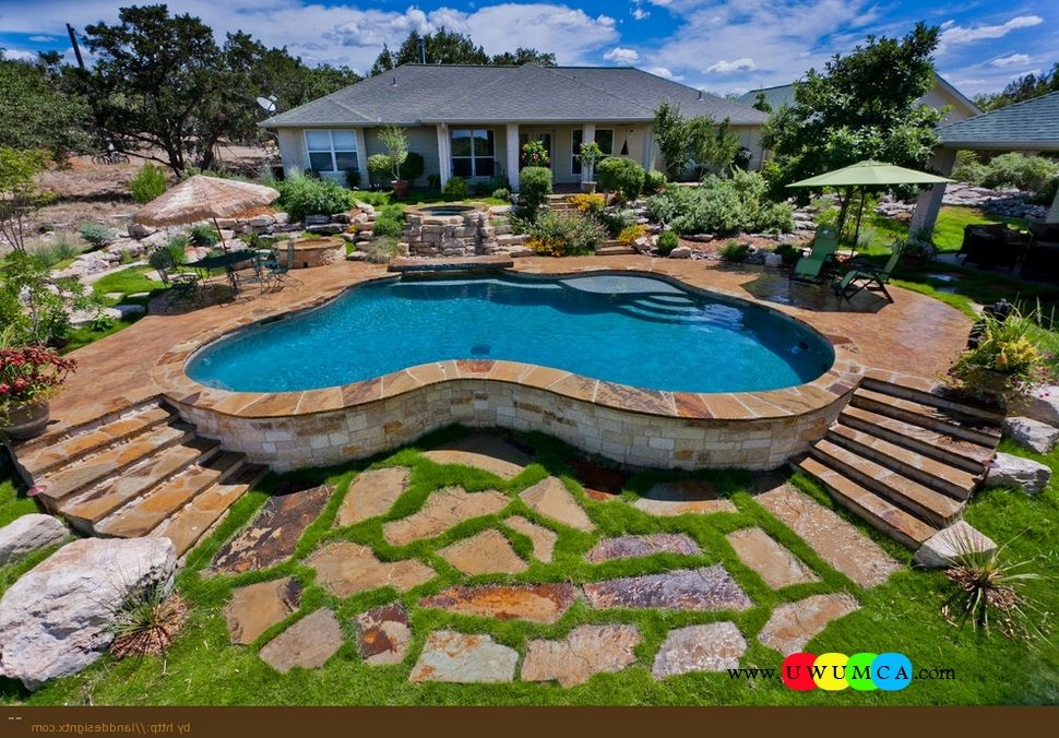 Swimming Pool:Garden Swimming Pool Deck Ideas Inground Swimming Pool ...
