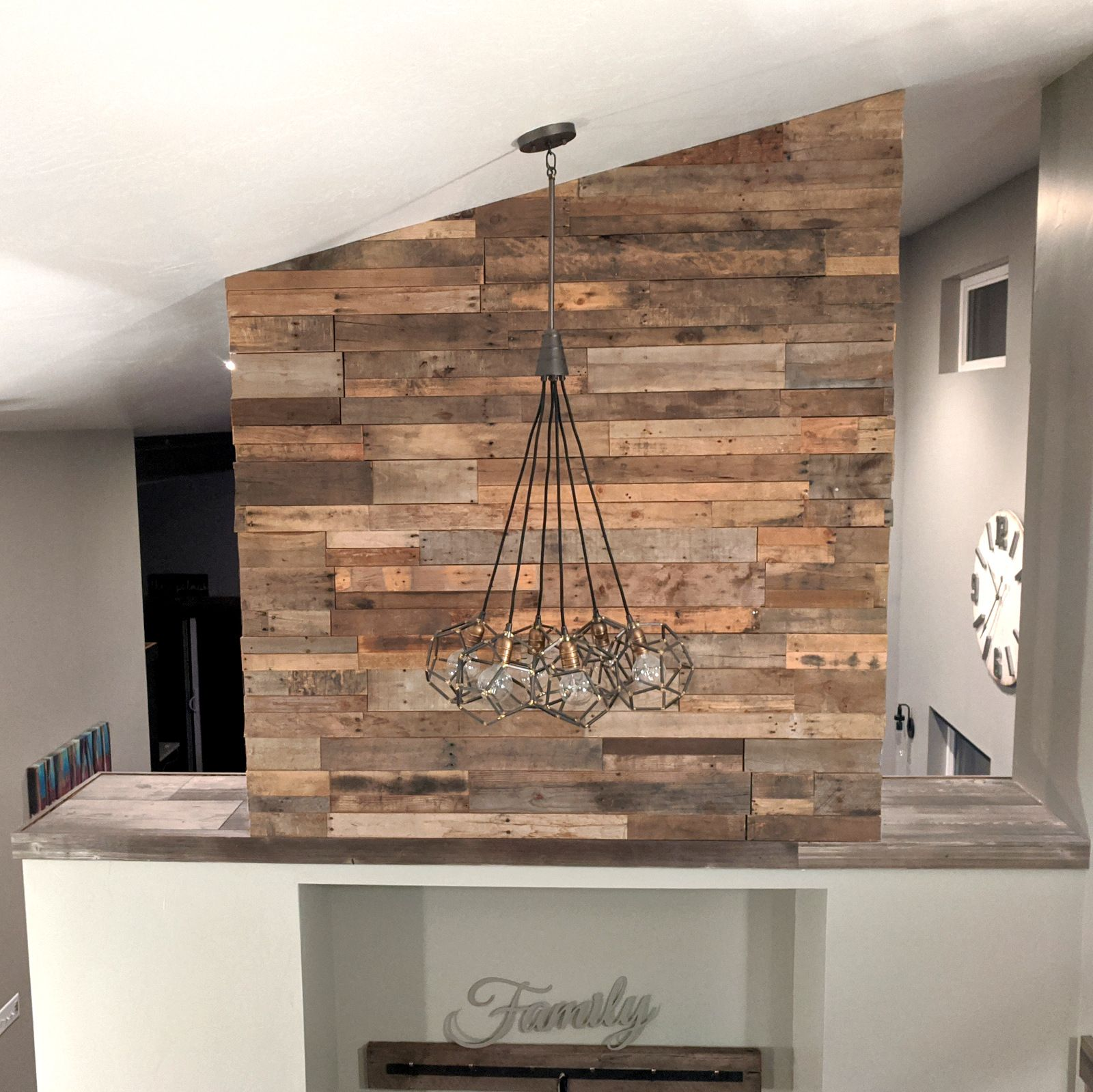 Pre Fab Wood Wall Panels Reclaimed Pallet Wood Paneling In 2020 Wood Panel Walls Reclaimed Pallet Wood Wood Pallet Wall