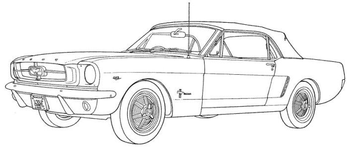 Ford Mustang Full Power Coloring Page Ford Mustang Classic Ford Mustang Old School Cars