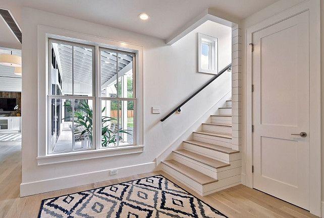 Wonderful Whitewash Oak Floors And Staircase | Redbud Custom Homes
