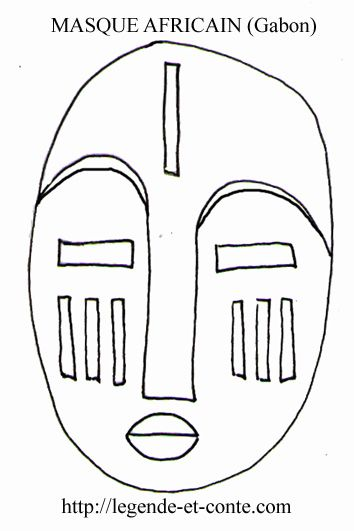 Masque africain dessin recherche google afrique - Dessin africain a colorier ...