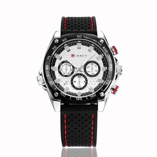 24049507305 Brand Luxury Men Sports Watches Silicone Men Quartz Military Army  Wristwatches