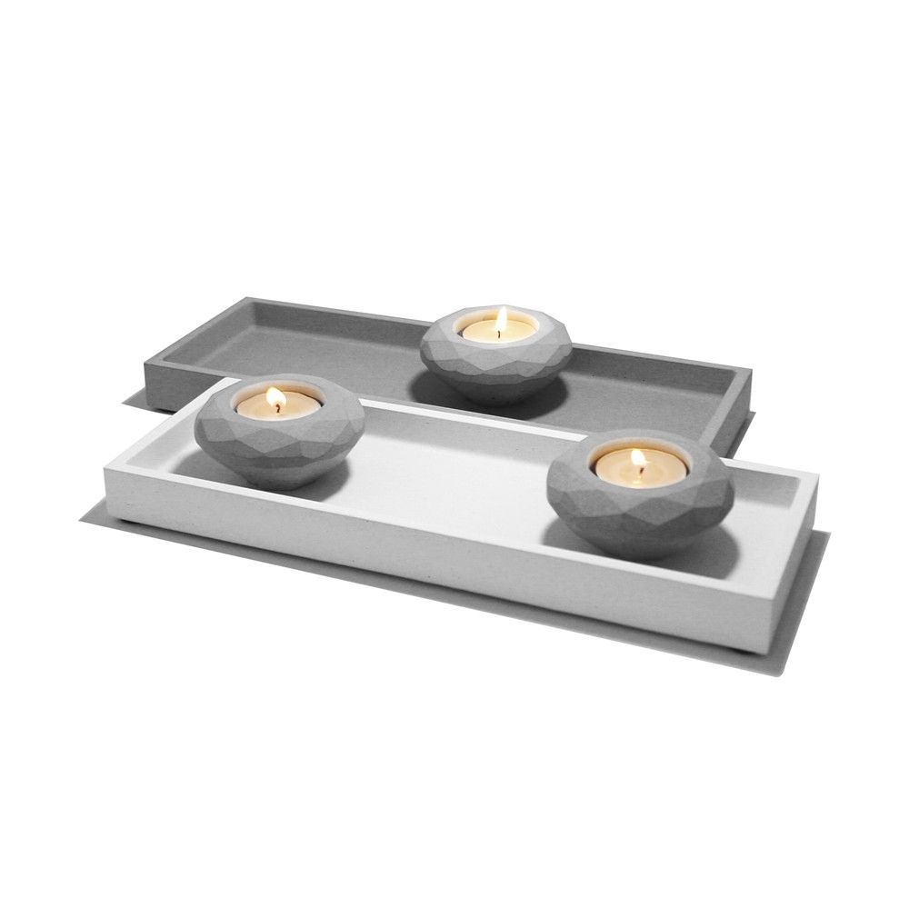 Rectangle silicone molds cement plate moulds candle holder concrete