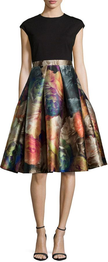 06c28858b Ted Baker London Eana Cap-Sleeve Fit- -Flare Dress