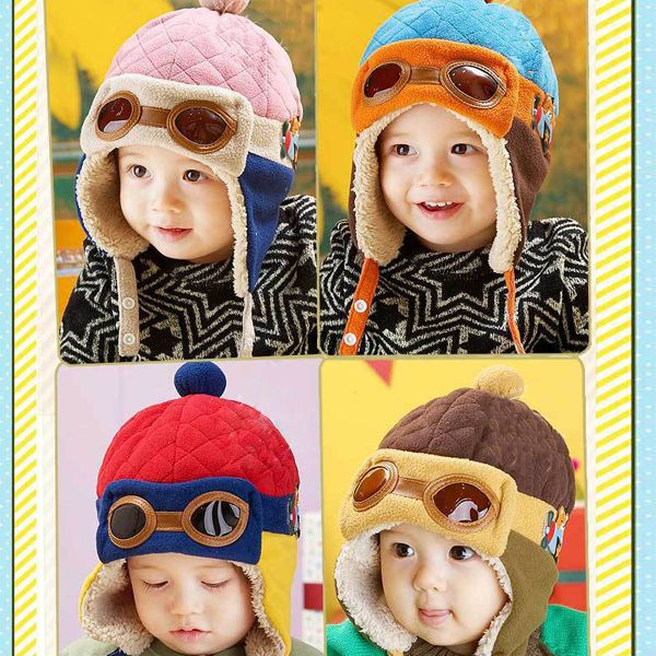 07db3b06ccc6 Hot Sale Toddlers Warm Cap Hat Beanie Cool Baby Boy Girl Kids Infant Winter  Pilot Cap Free Shipping