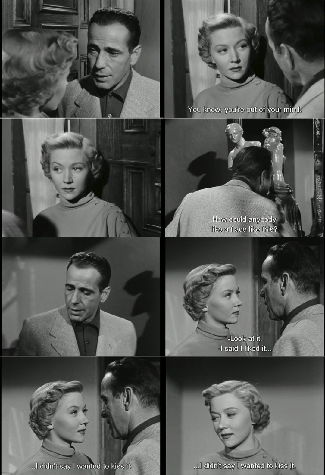 Flirtation Humphrey Bogart And Gloria Graham In A Lonely Place