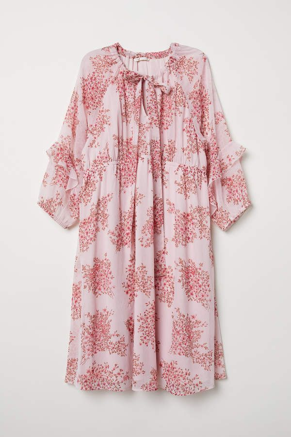 9821ea3d8dd H M MAMA Patterned Dress - Light pink floral - Women