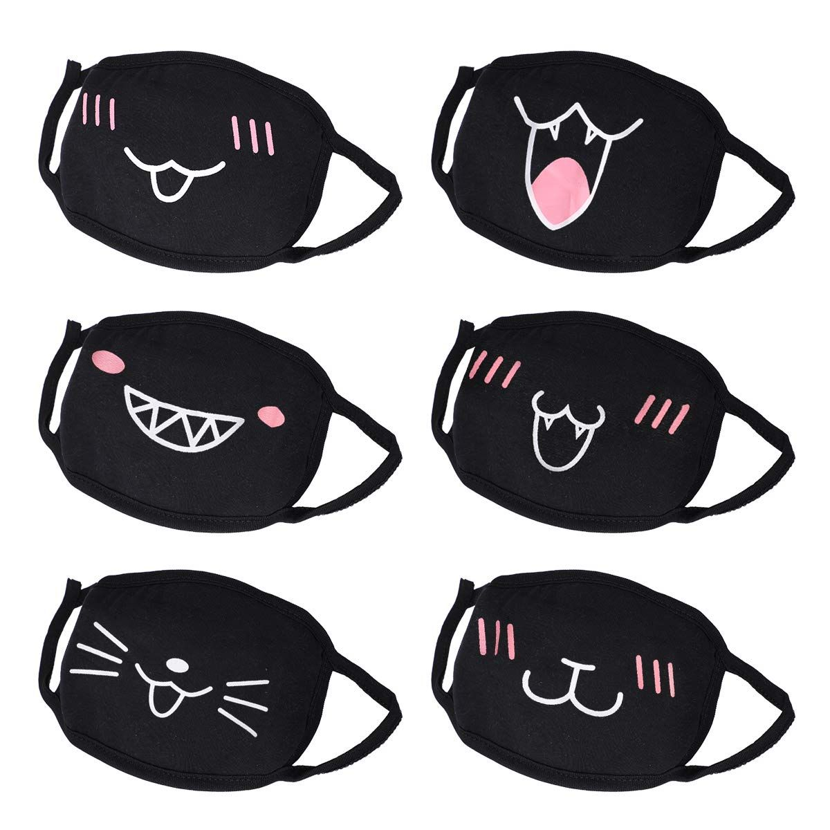 Mouth Mask Cotton Face Mask Aieve 6 Pack Unisex Anti Dust Mask