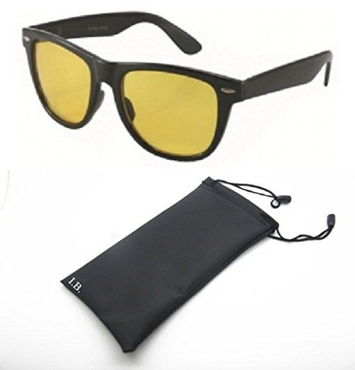 438290b1704 Men and Women Unisex Yellow Night Driving Spring Temple Wayfarer Sunglasses  Eyeglasses