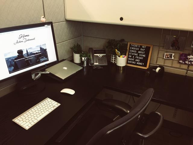 How I Transformed My Office Cubicle Into A Home Office.