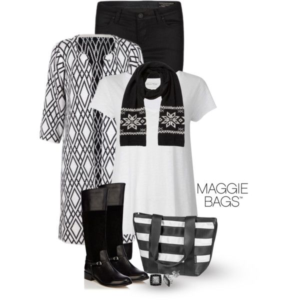 """""""Campus Tote in Tuxedo"""" Made with ♥ by Maggie Bags on #Polyvore #MaggieBags #handbags #purses #fashion #seatbelt"""