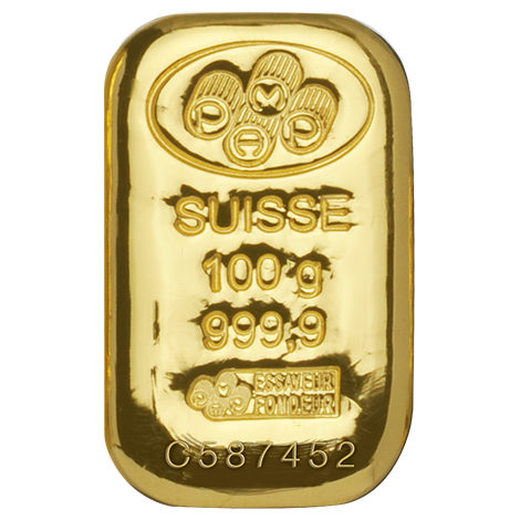 100 Gram Pamp Suisse Gold Cast Bar Malaysia Bullion Trade Buy Gold And Silver Gold Bullion Bars Gold Investments