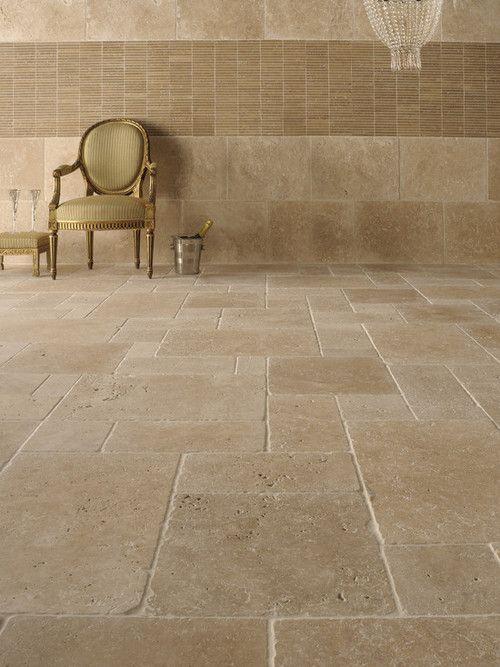 travertine tile floors world of flooring pinterest carrelage pierre de bourgogne et. Black Bedroom Furniture Sets. Home Design Ideas
