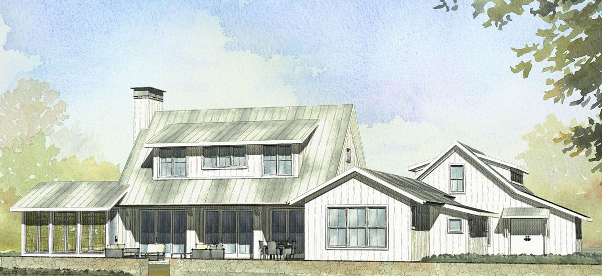 undefined Plan 970018VC 3 Bed Farmhouse with Bonus