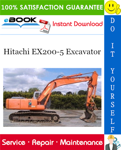 Hitachi Ex200 5 Excavator Service Repair Manual Hitachi Repair Manuals Excavator