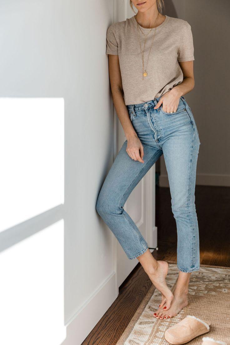 Photo of #sommer # neutral # outfits Neutrale Outfits Jenni Kayne Eco Tee Haferflocken