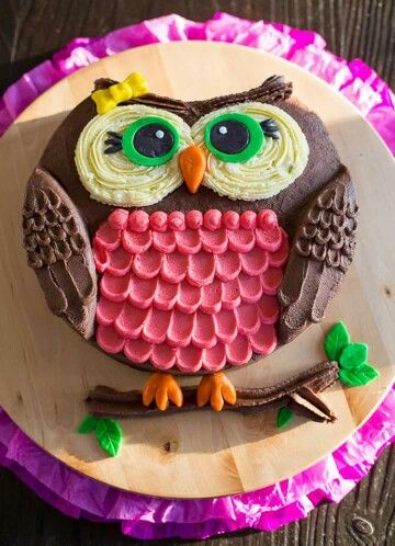 Terrific Owl Cake With Images Owl Cake Birthday Cake Party Cakes Funny Birthday Cards Online Drosicarndamsfinfo