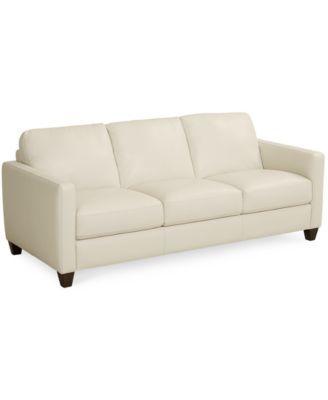 Emilia Leather Sofa Macy S Sale Price 869 White