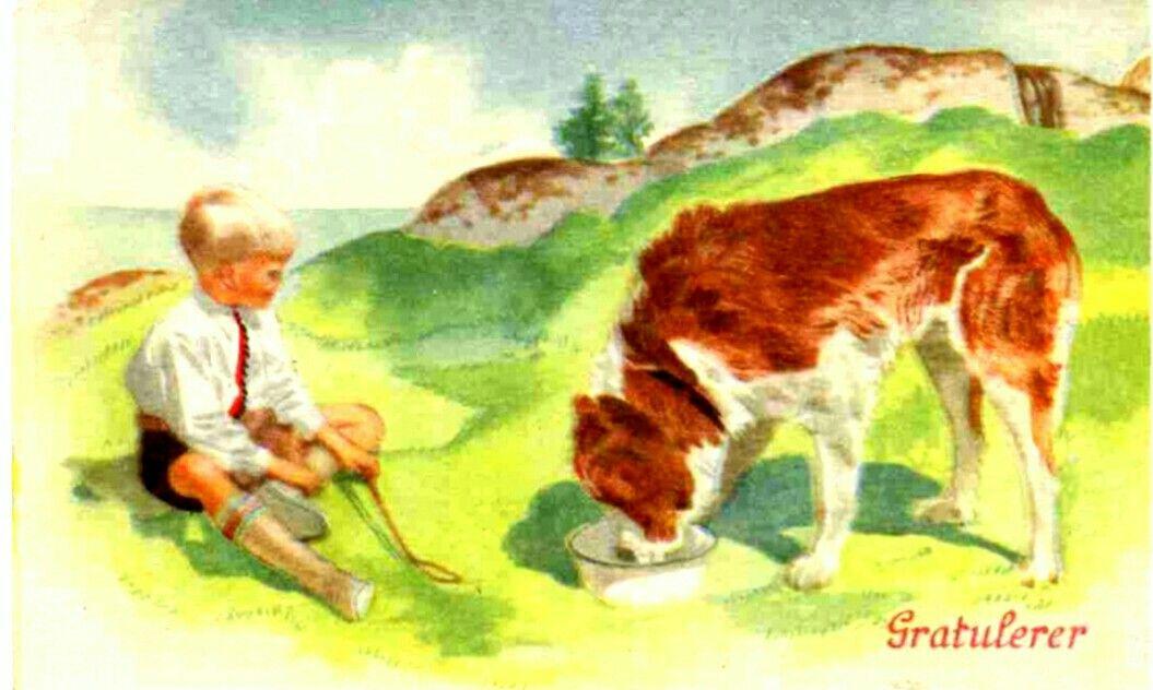 Gratulasjonskort Erling Nielsen Norsk arbeide 1940-tallet
