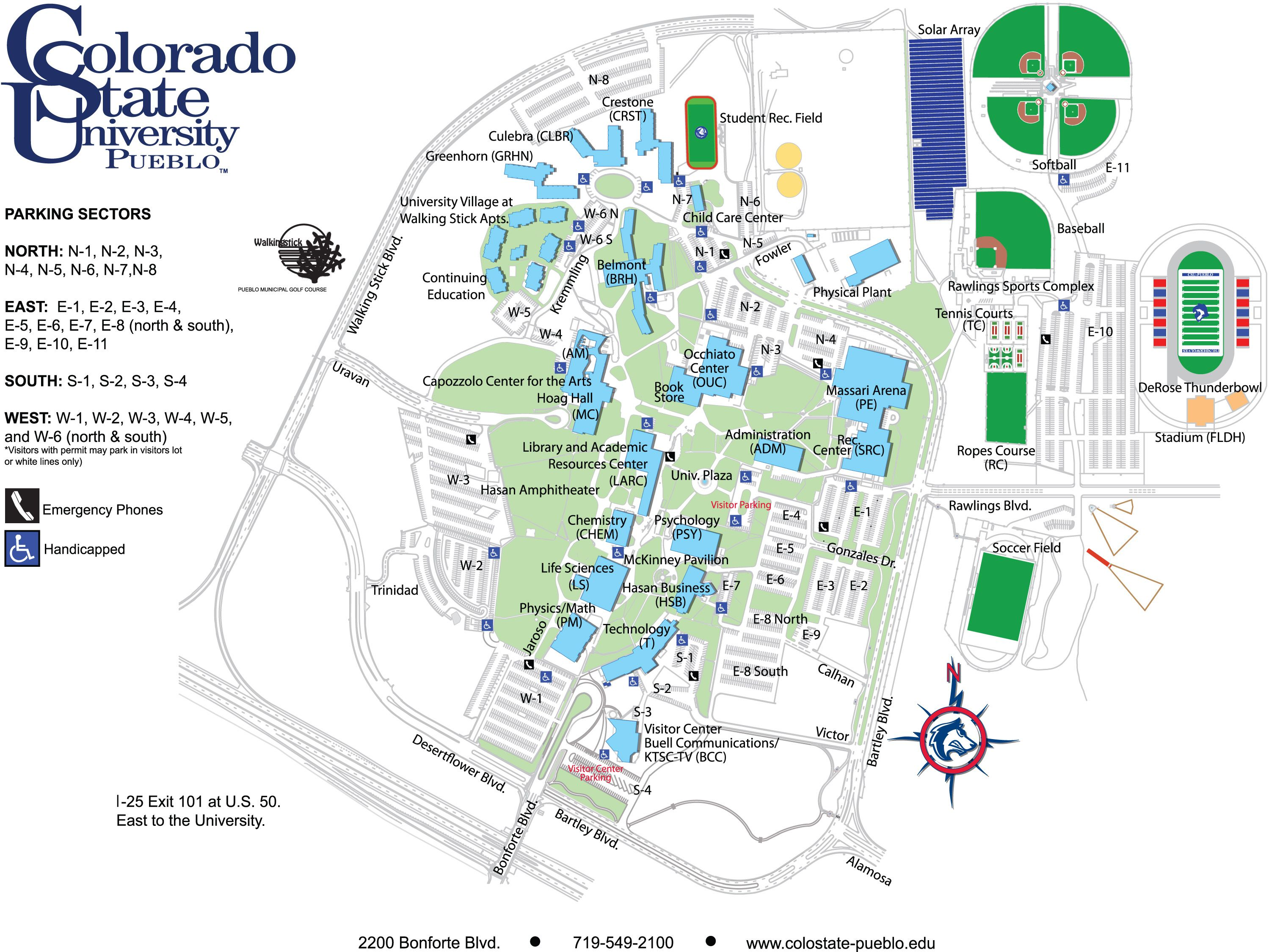 Colorado State University Campus Map Colorado State University