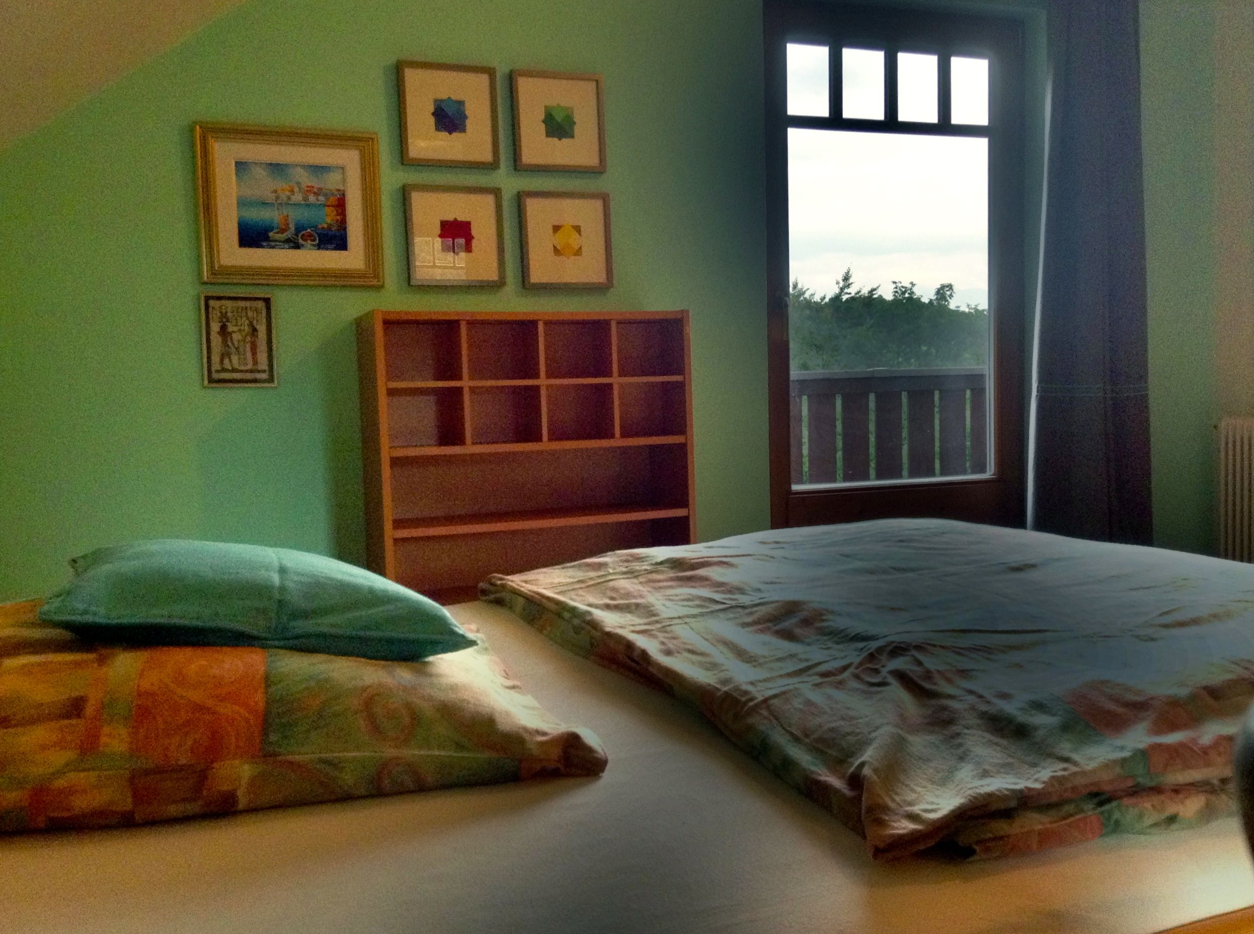 Upstairs bedroom two with double bed. View B.
