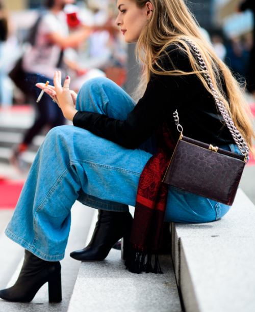 Off Duty.. #StreetStyle #Outfit #Style #OffDuty #Denim #Jeans