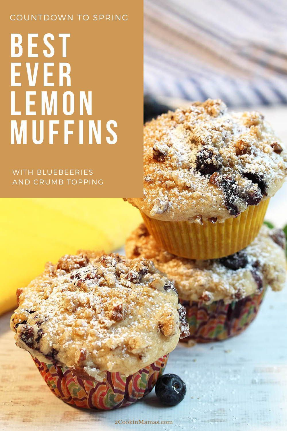 Lemon Blueberry Muffins With Streusel Topping Recipe In 2020 Lemon Muffins Lemon Blueberry Muffins Recipe Homemade Muffins