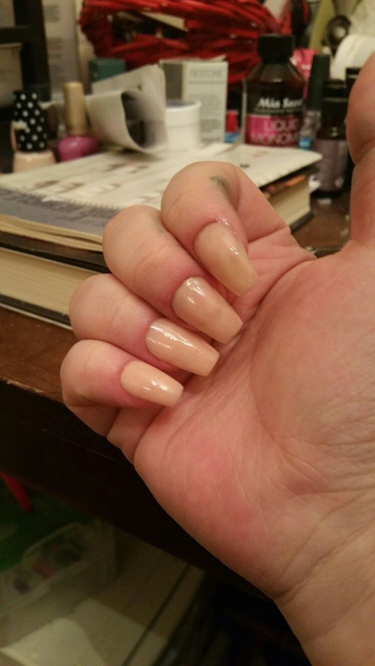 First Time Doing My Own Acrylics My Nails Nails First Time