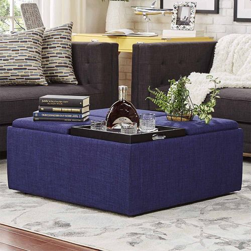 What We Offer At Darboy Storage: HomeVance Avery Coffee Table & Storage Ottoman