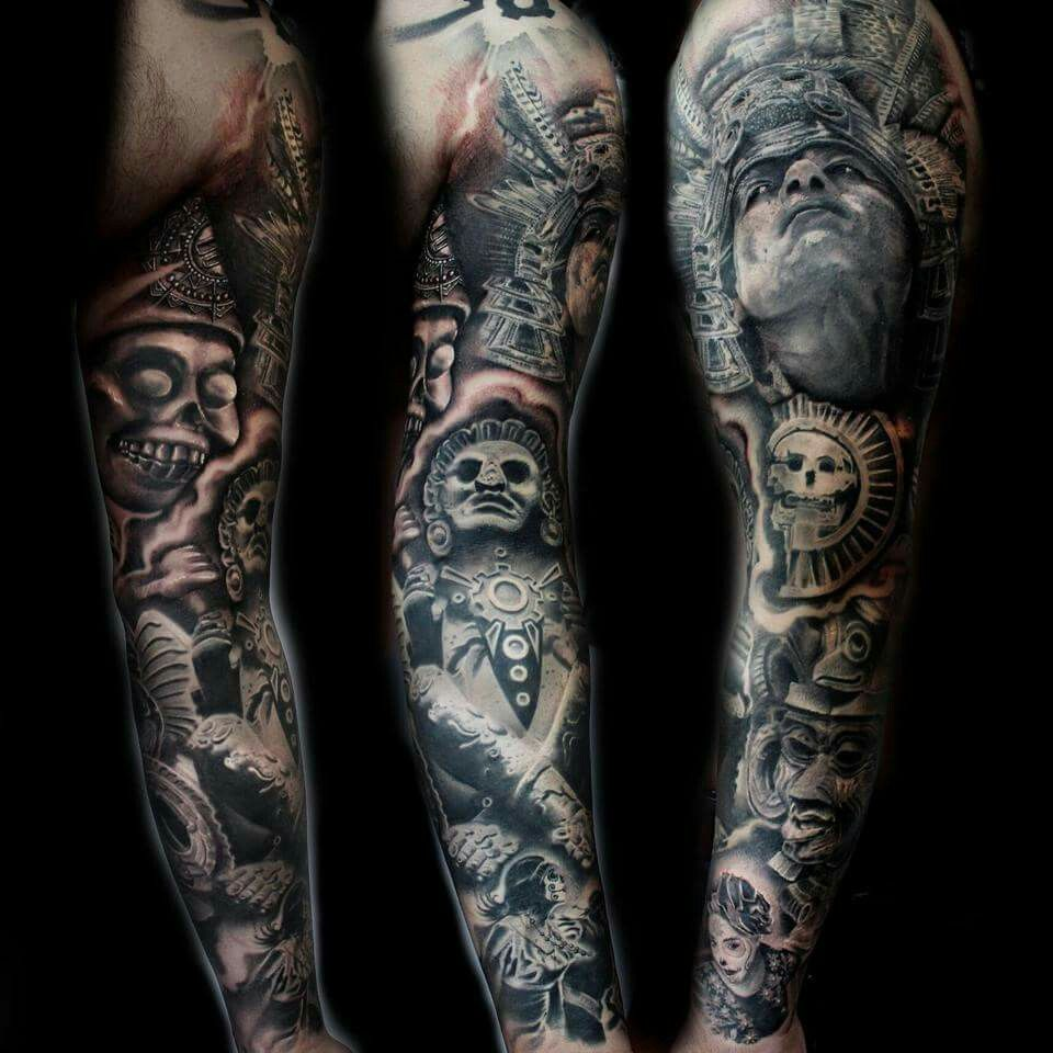 Aztec Warrior Sleeve | Tatts!! | Pinterest | Aztec warrior ...