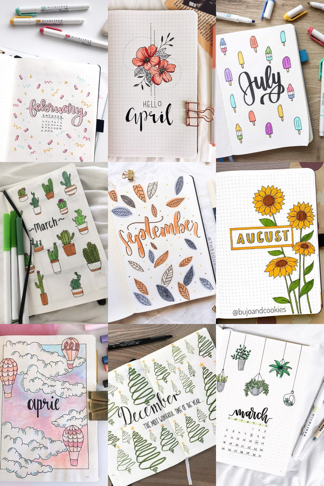 Photo of 41 BULLET JOURNAL MONTHLY COVER IDEAS YOU MUST TRY