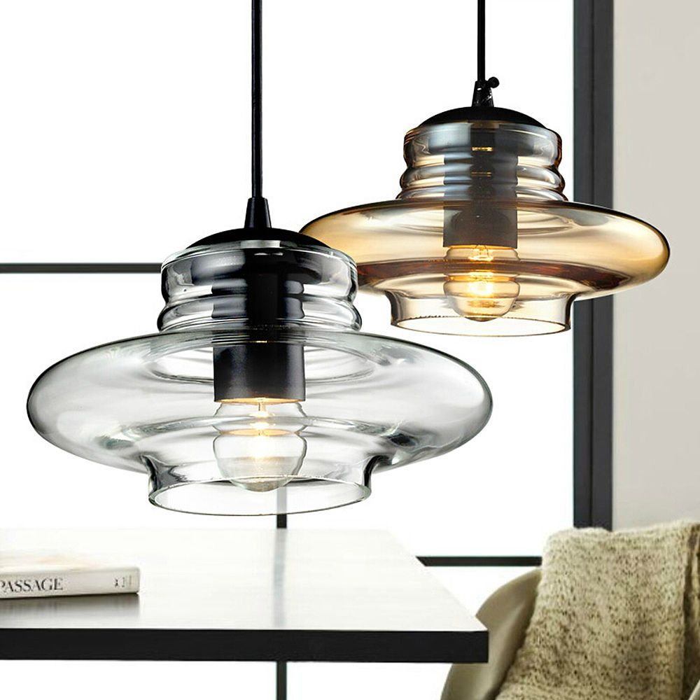Modern crystal clear brown glass pendant light ceiling lamp modern crystal clear brown glass pendant light ceiling lamp hanging lighting mozeypictures Images