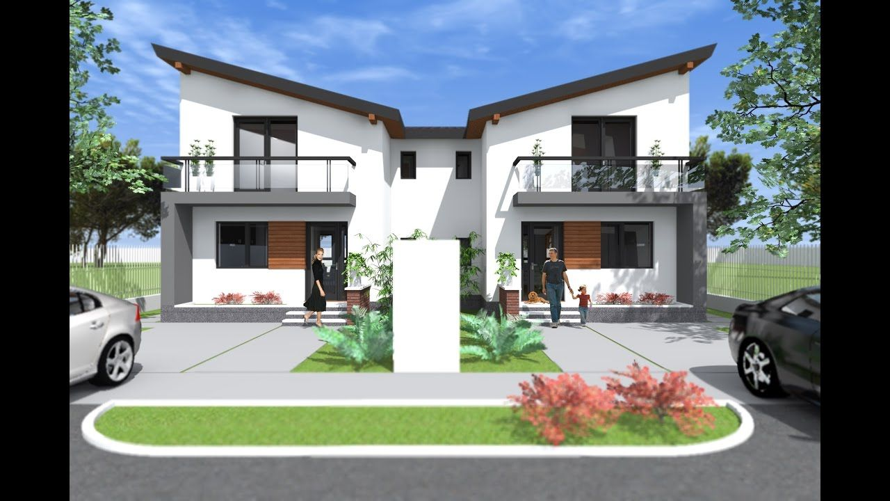 Modern Small Duplex House Design 3 Bedroom Duplex Design Two Apartments Duplex Design Duplex House Design Duplex House Plans