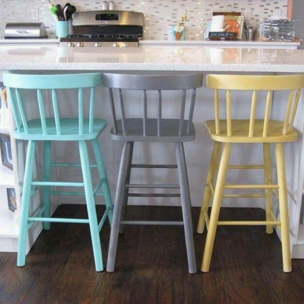 Colorful Barstools Bar Stools Painted Bar Stools Home Bar Furniture
