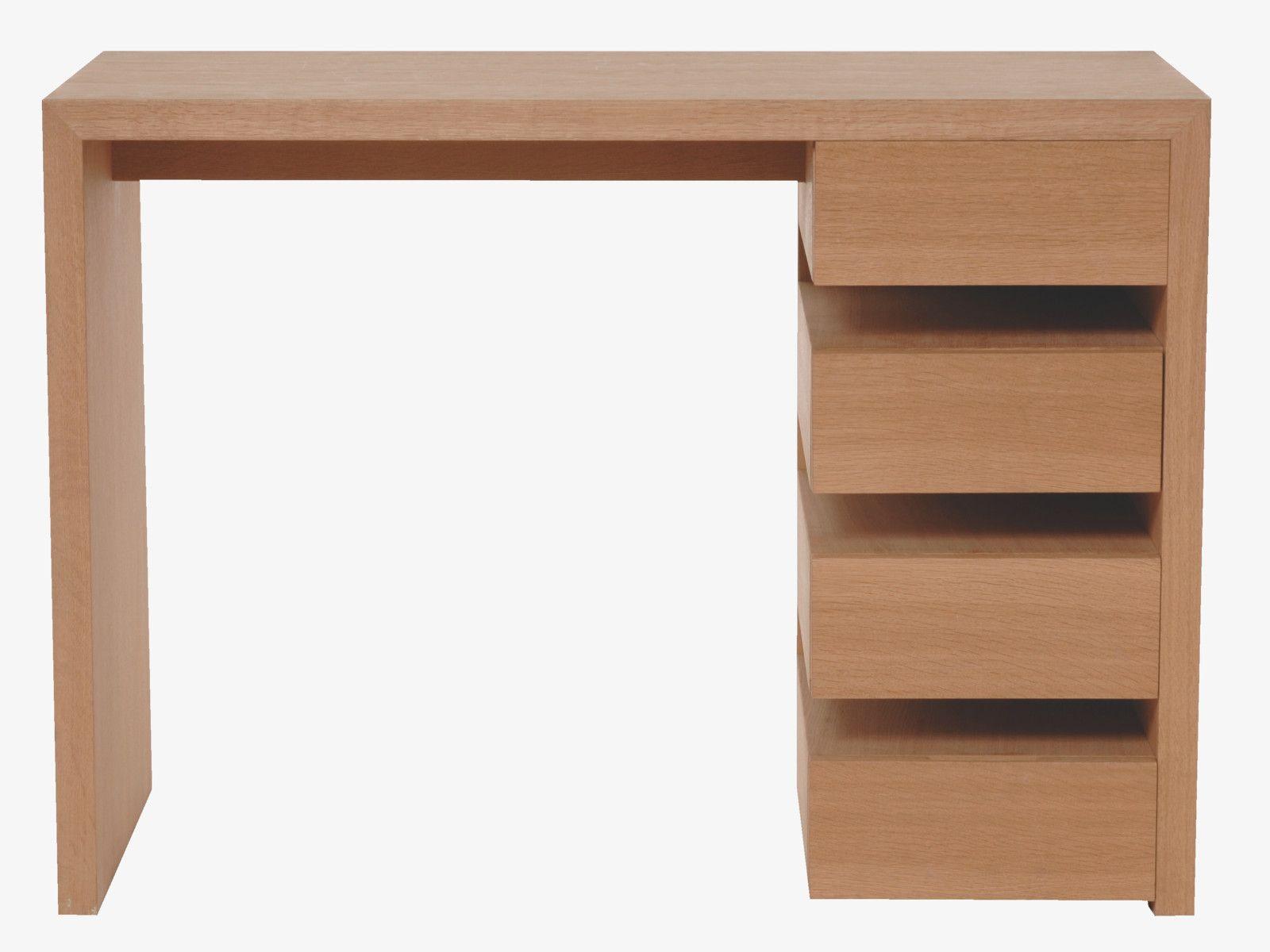 Tanna naturel bois bureau bureau habitat taille l h x