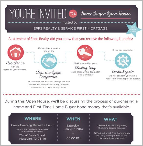 business open house invitation templates free real estate stuff in