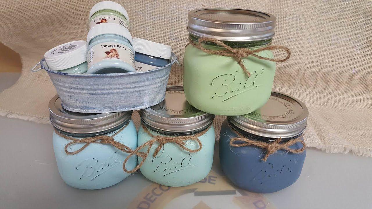 48+ Chalk paint on glass jars ideas