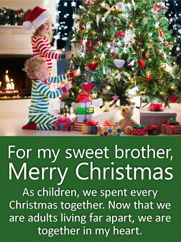 for my sweet brother christmas wishes card missing your brother this christmas if so then let him know how much he means to you with this sweet brother