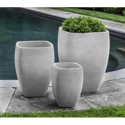 Campania International Inc Tribeca Cast Stone Pot Planter Perigold In 2020 Planters Cement Planters Planter Pots