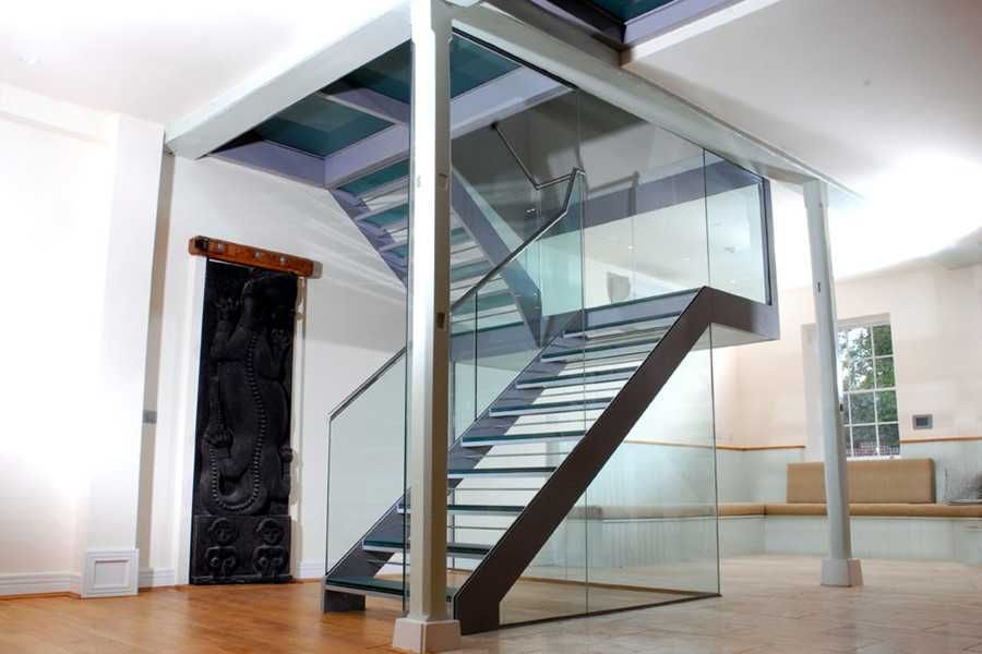 Best Steel Glass Staircase With Glass Treads And Glass Railing 400 x 300