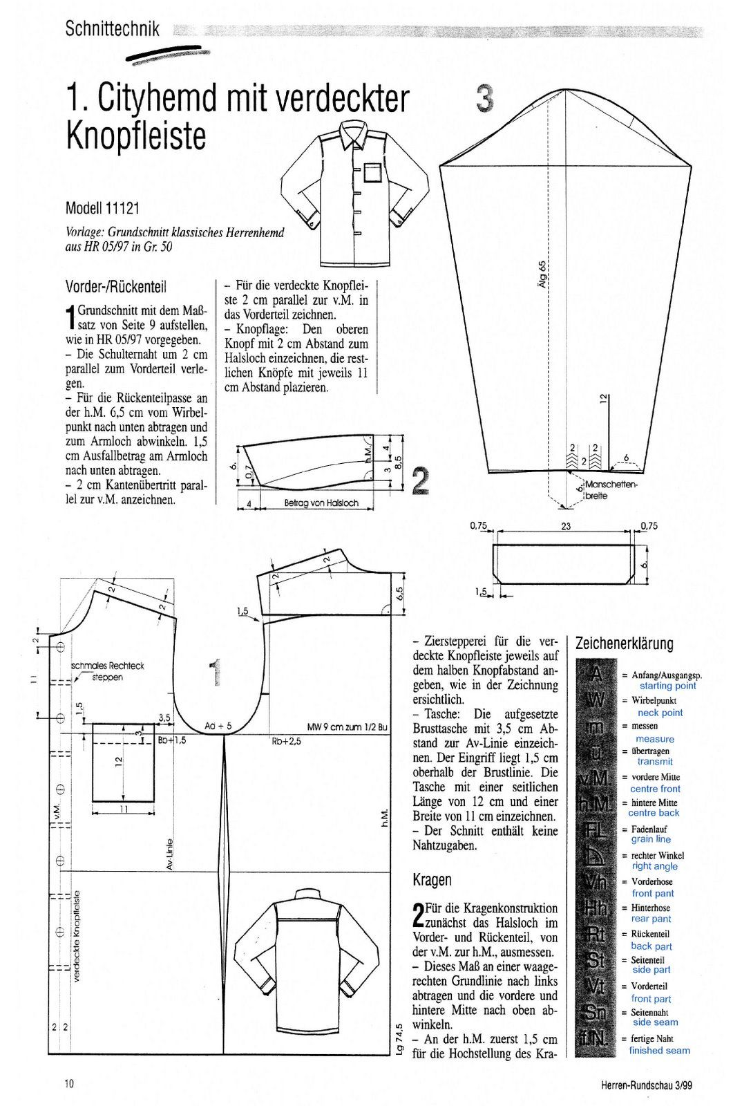 Shirt cutting from the einheitssystem the cutter and tailor sew pattern jeuxipadfo Image collections