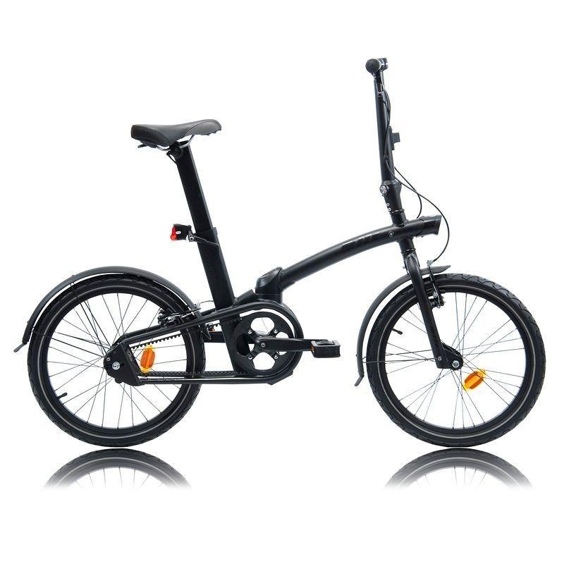 B Twin Tilt 7 City Folding Bike Black Decathlon Singapore Bike Bike Accesories Folding Bike