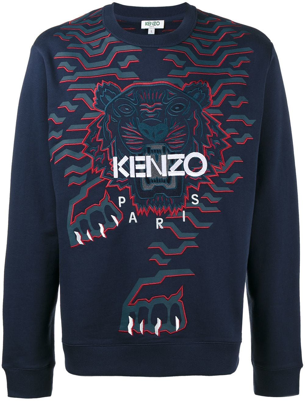0e6b9a7de5 KENZO KENZO GEO TIGER SWEATSHIRT - BLUE. #kenzo #cloth   Kenzo in ...