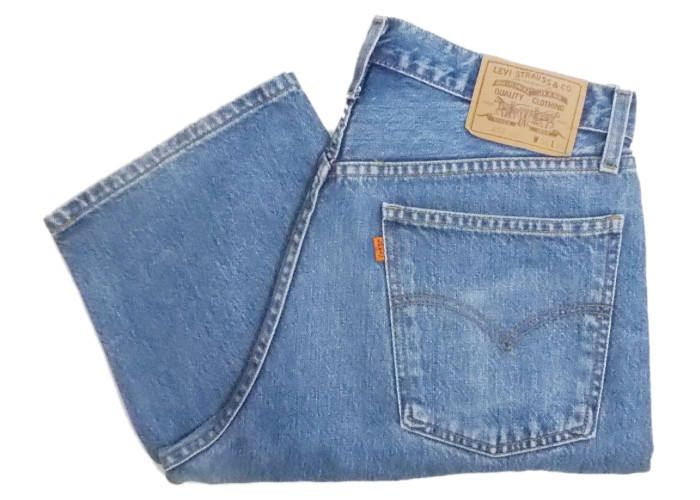085dba8c Vintage Levis 618 Mens Jeans 90s Orange Tab Button Fly Stonewash Blue Denim  High Waist W35 L30 by BlackcatsvintageUK on Etsy