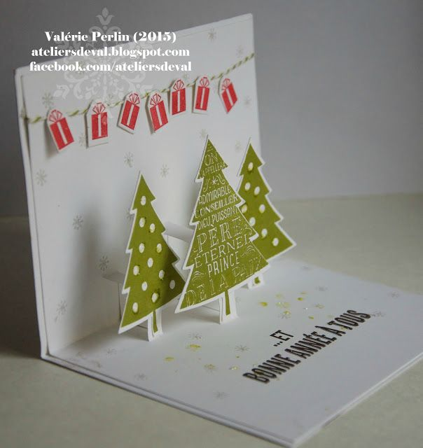 Les ateliers de val carte pop up de noel pop up - Carte pop up a fabriquer ...
