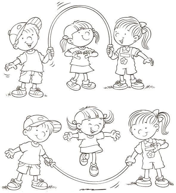 Juegos Dibujos Para Colorear Infantiles   educación física ...