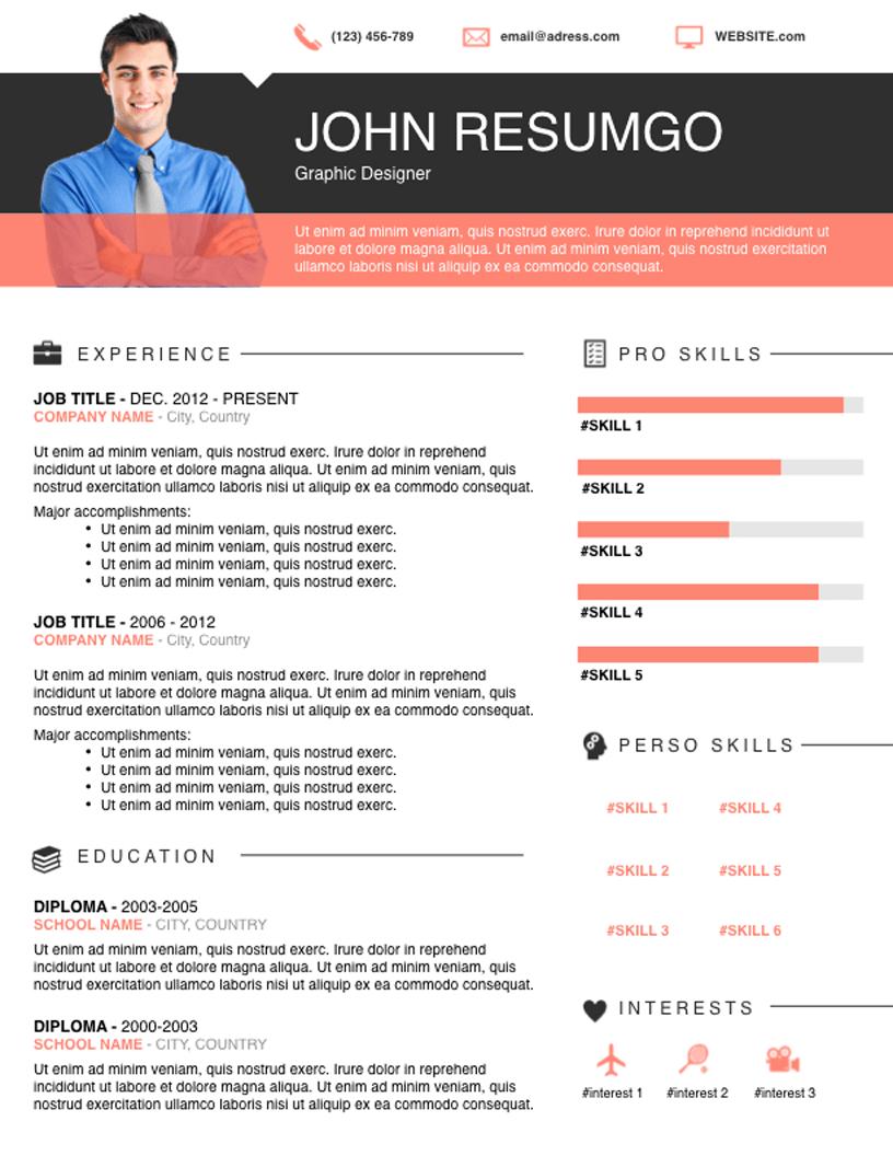ELIAS Modern Resume Template Resume