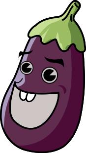 Talking Eggplant Binatang Kartun Animasi
